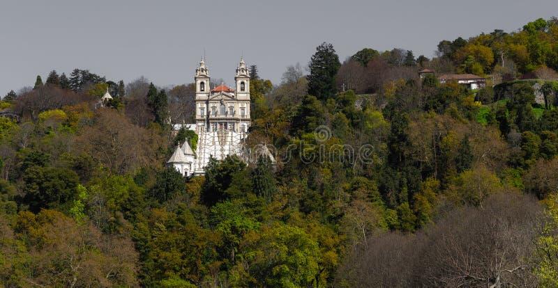 美丽的'Bom耶稣的圣所在拉格 免版税库存图片