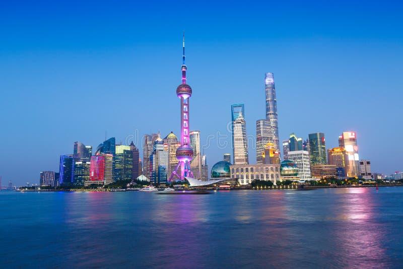 美丽的上海市地标大厦 免版税图库摄影