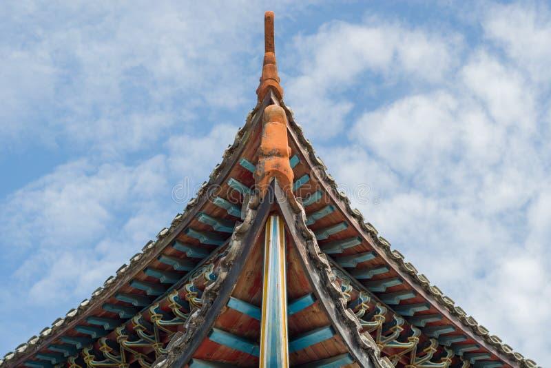 美丽的中国古老architechture在湖北 免版税库存照片