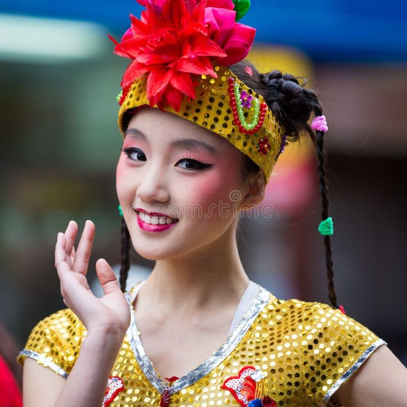 美丽的中国女孩 免版税图库摄影