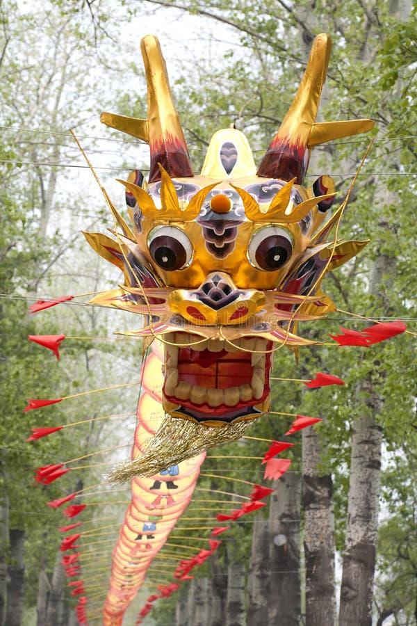 美丽的中国龙风筝 免版税库存图片