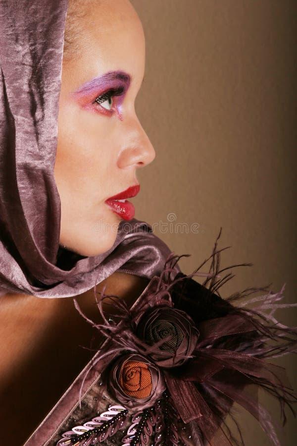 美丽的二种人种的妇女 免版税图库摄影