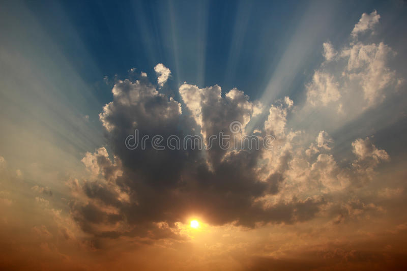 美丽的云彩天空 免版税库存照片