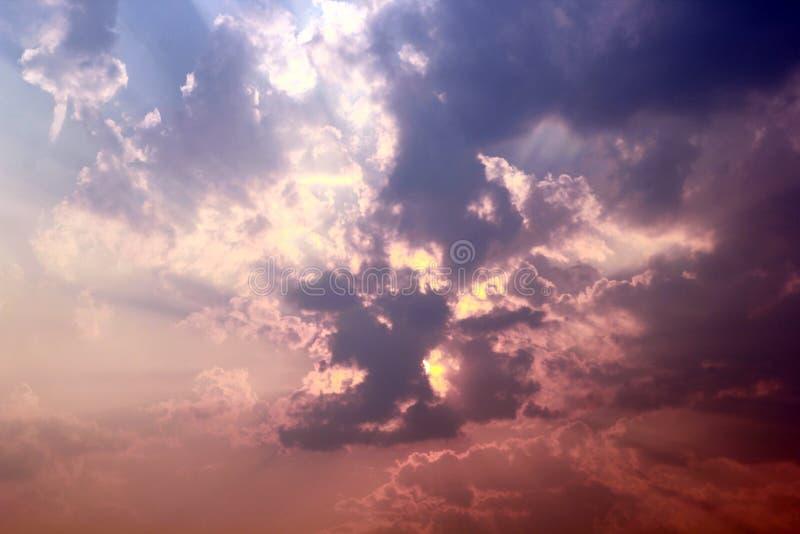 美丽的云彩天空 库存照片