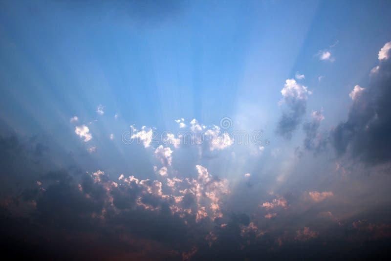 美丽的云彩天空 免版税图库摄影
