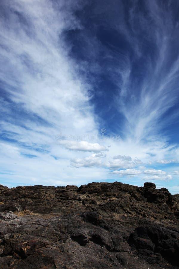 美丽的云彩天空 图库摄影