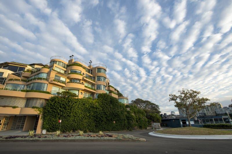 美丽的云彩早晨在悉尼 库存图片