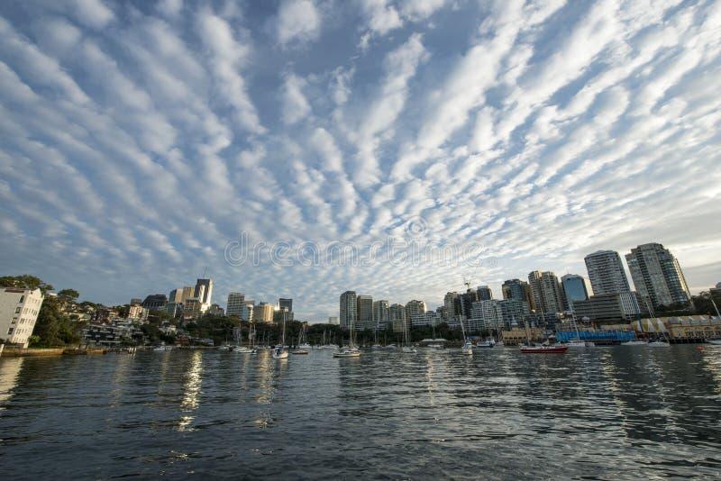 美丽的云彩早晨在悉尼 免版税图库摄影