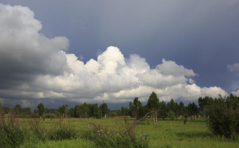 美丽的云彩风暴 图库摄影