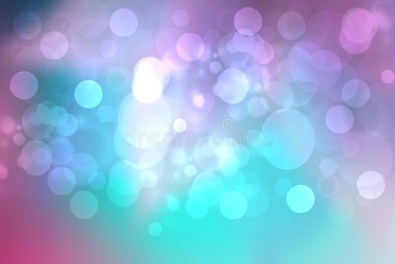 美丽的五颜六色的抽象柔和的淡色彩色的软的背景 从紫色的梯度到蓝色 文本的空间 库存例证