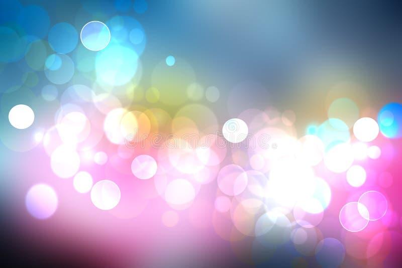 美丽的五颜六色的抽象柔和的淡色彩色的软的背景 毕业 图库摄影