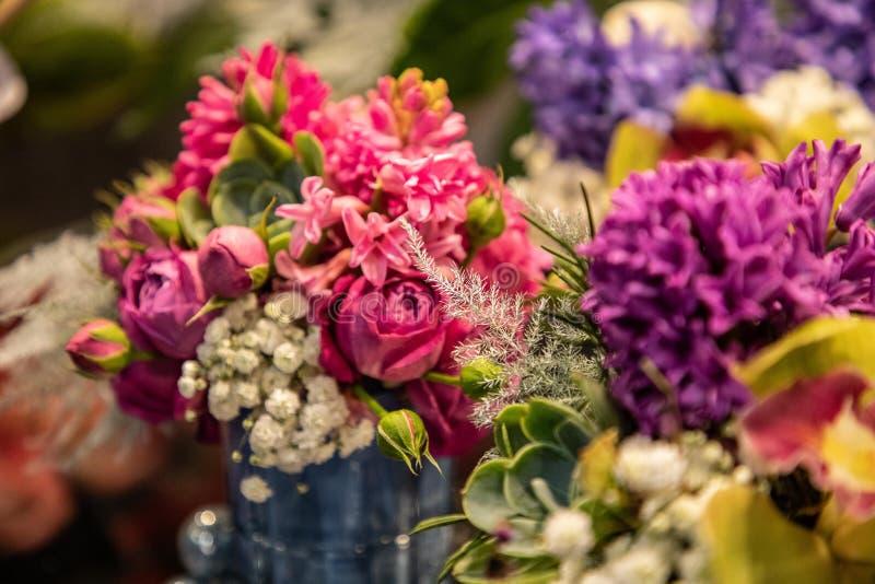 美丽的五颜六色的花 免版税图库摄影