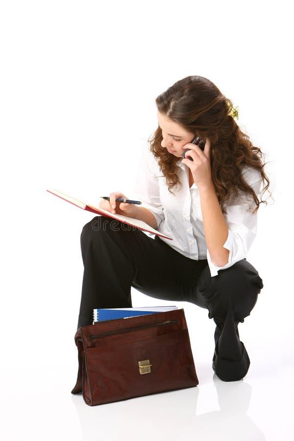 美丽的企业纵向妇女 免版税库存照片
