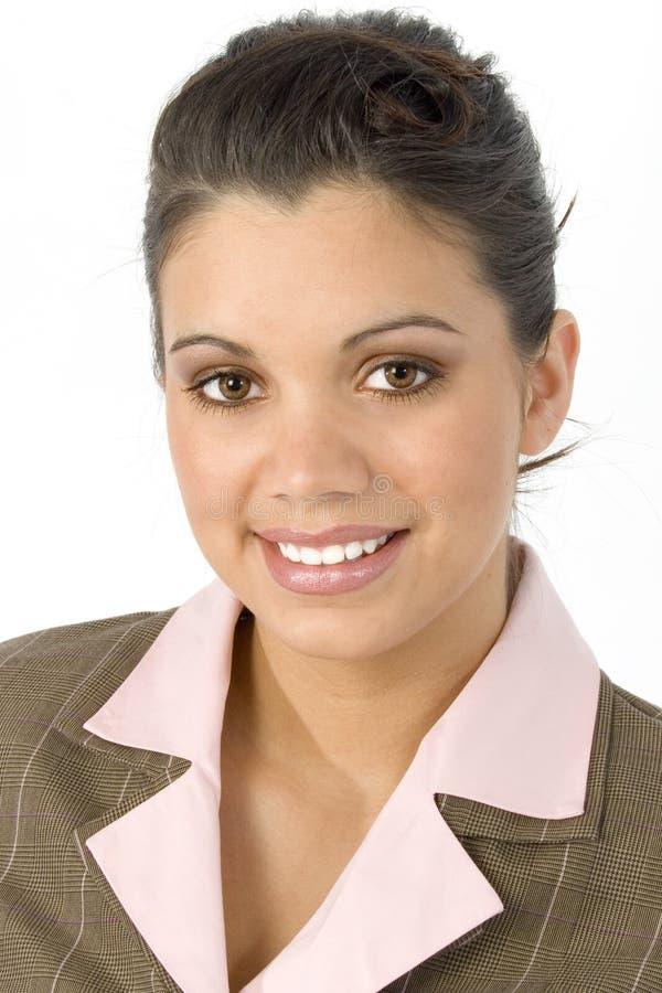 美丽的企业讲西班牙语的美国人妇女 免版税图库摄影