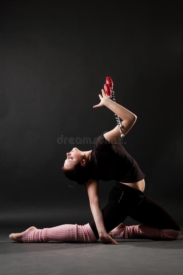 美丽的体操运动员年轻人 库存图片