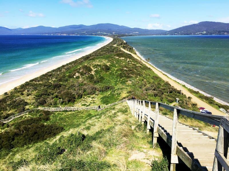 美丽的假日目的地在澳大利亚塔斯马尼亚岛布鲁尼岛 免版税库存照片