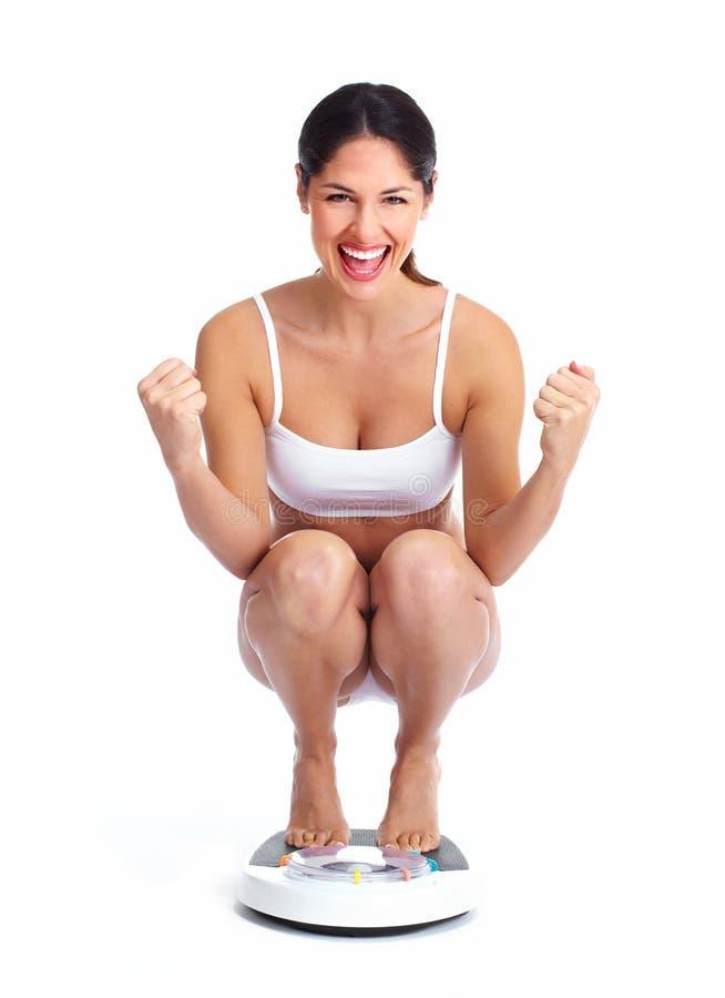 美丽的健康妇女。 免版税图库摄影