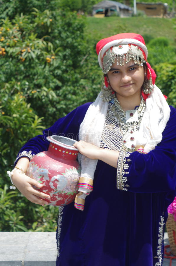 美丽的克什米尔人女孩3 库存照片