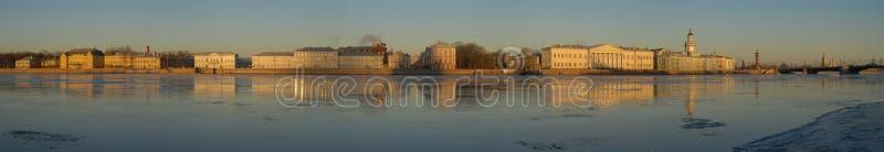 美丽的全景彼得斯堡st 免版税图库摄影
