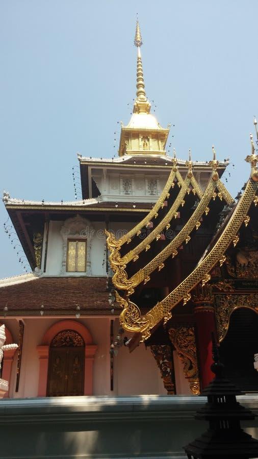 美丽的兰纳寺庙 库存图片