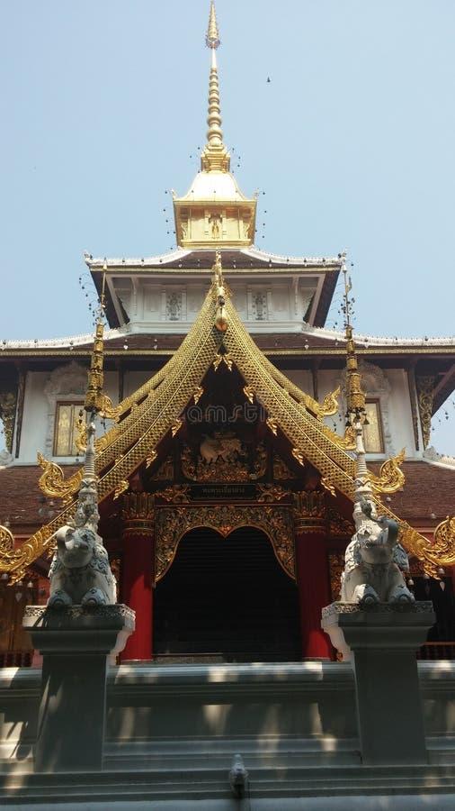 美丽的兰纳寺庙 库存照片