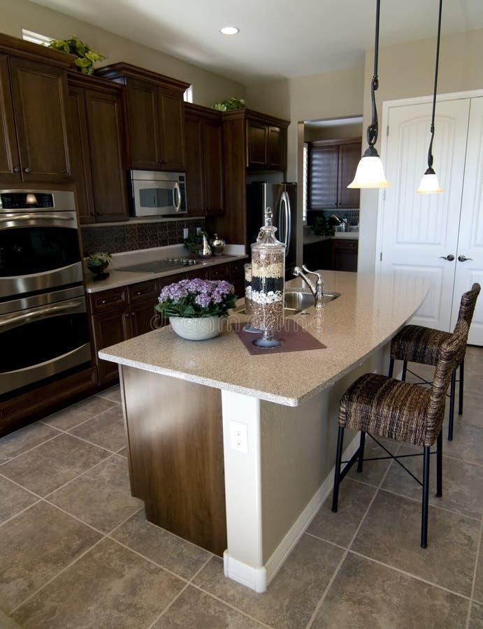 美丽的内部厨房 免版税图库摄影
