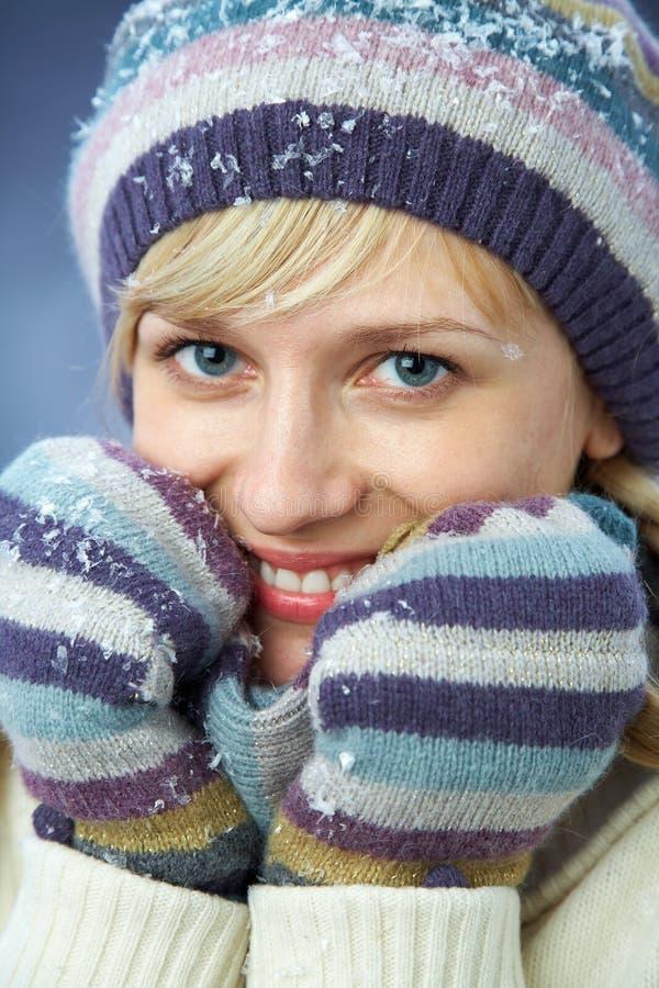 美丽的冬天妇女 库存图片