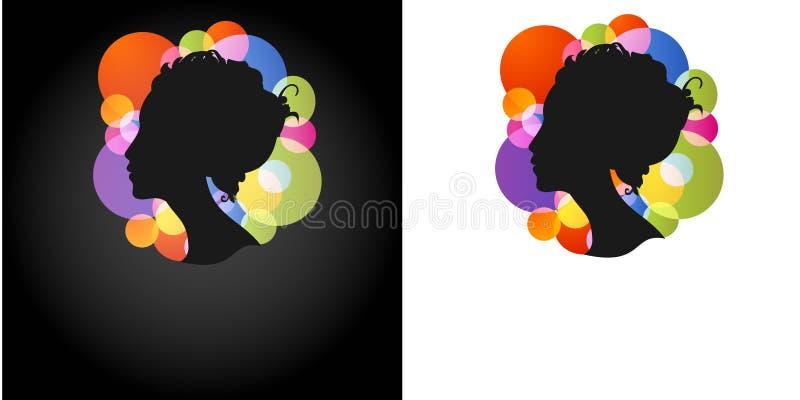 Download 美丽的剪影妇女 向量例证. 插画 包括有 风格化, 样式, 向量, beautifuler, 要素, 符号 - 15686224