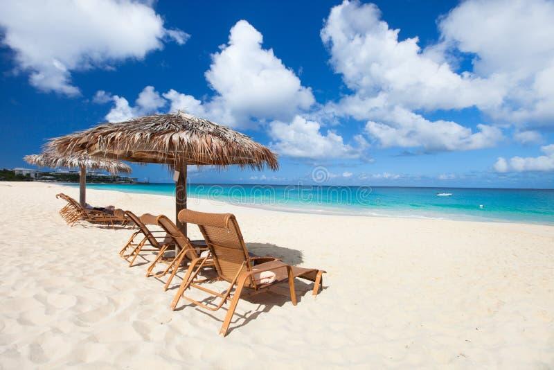 美丽的加勒比海滩 免版税库存照片