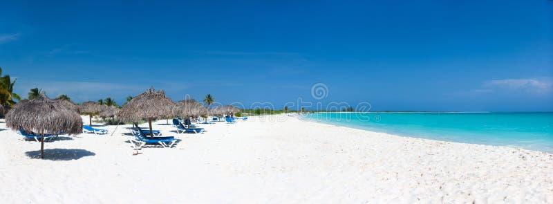 美丽的加勒比海滩 免版税库存图片