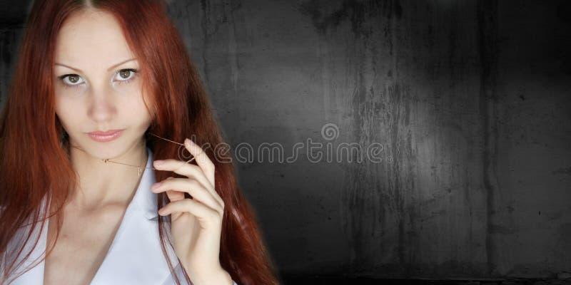 美丽的动态女孩h 图库摄影