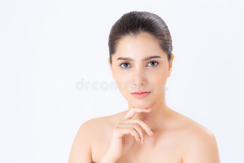 美丽的化妆用品,女孩手妇女亚洲构成画象  免版税图库摄影