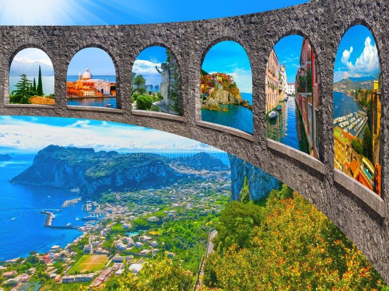 美丽的卡普里岛海岛 免版税库存照片
