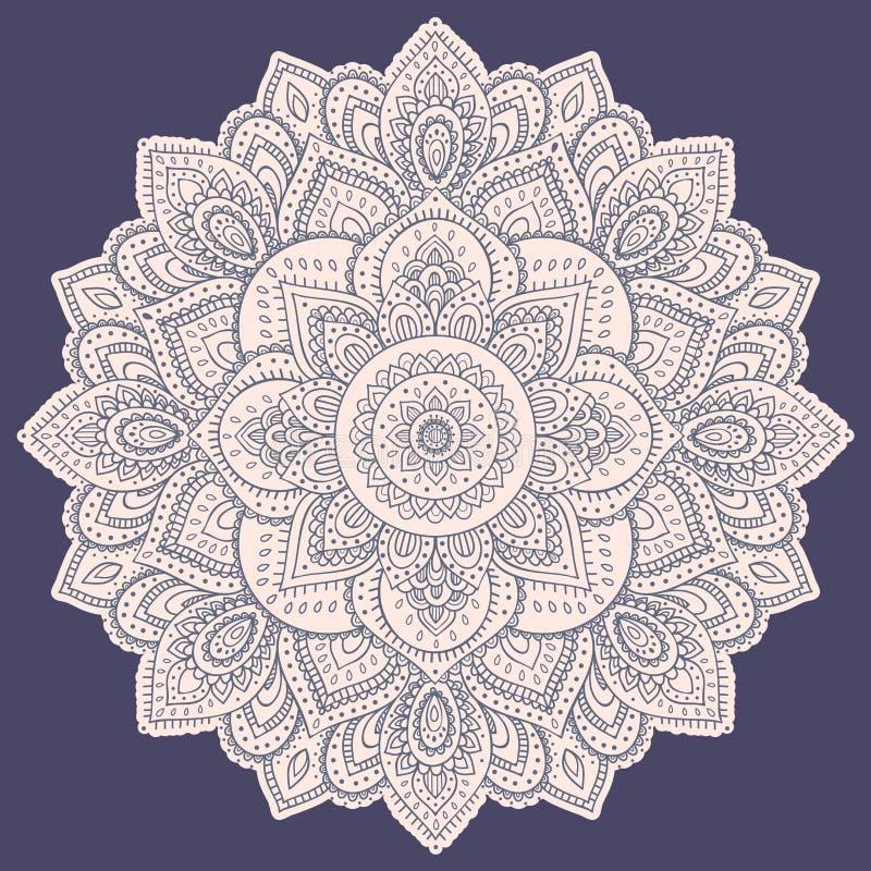 Download 美丽的印地安花卉坛场装饰品 向量例证. 插画 包括有 阿兹台克, 乱画, 装饰, 要素, 抽象, 装饰品 - 59103929