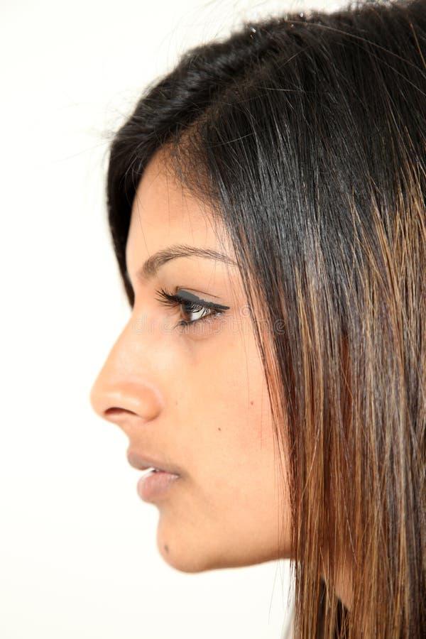 美丽的印第安夫人年轻人 免版税库存照片