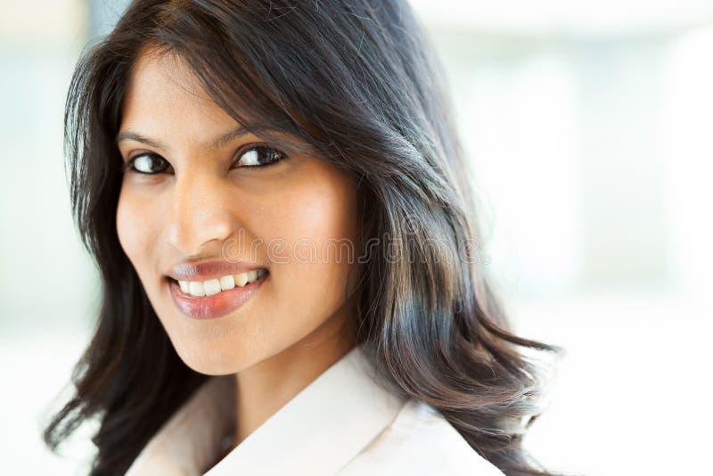 美丽的印第安女实业家 免版税库存照片