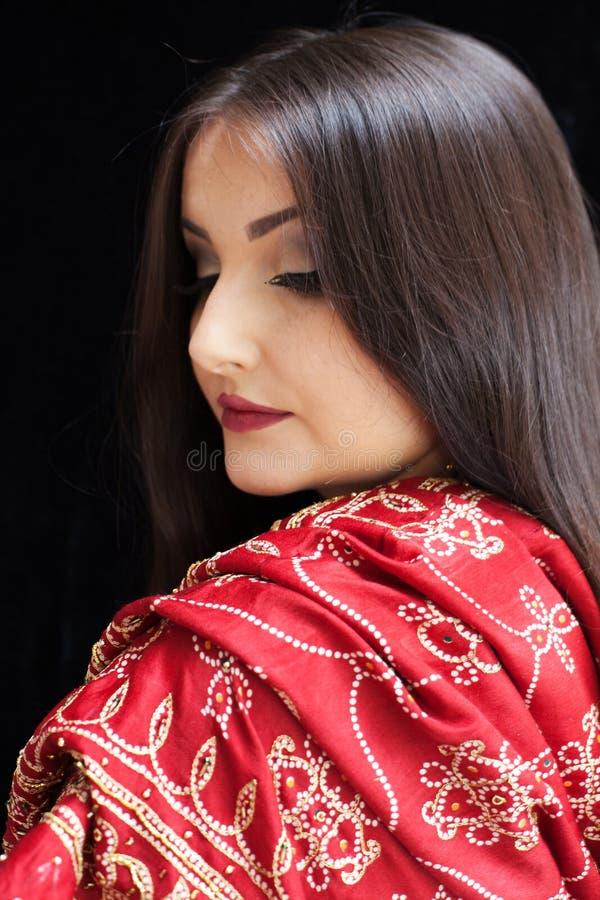 美丽的印第安妇女 库存图片