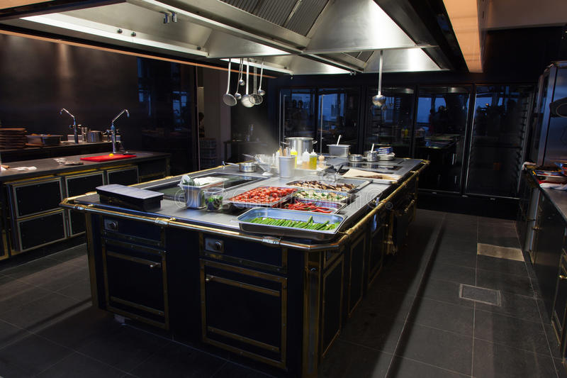 美丽的厨房餐馆 库存照片