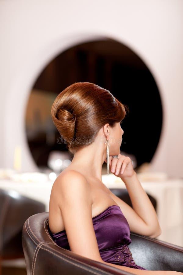 美丽的发型妇女 免版税图库摄影