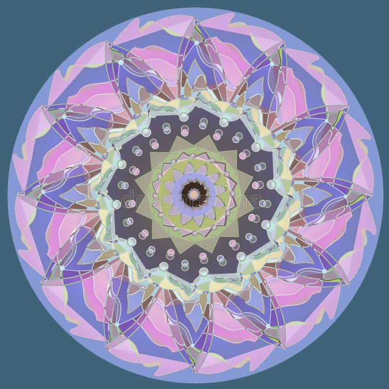 美丽的向日葵坛场 淡色板台 简单的浅兰的背景 向量例证