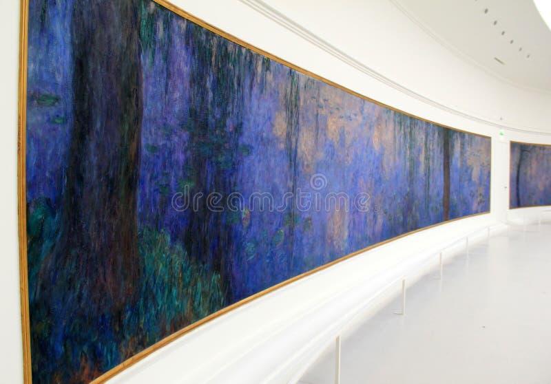 美丽的图画莫内,陈列在Musee de l'Orange,巴黎,法国, 2016年 库存图片