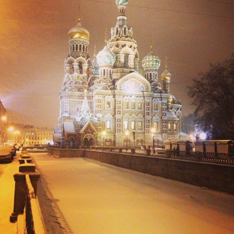 美丽的圣彼德堡 库存照片