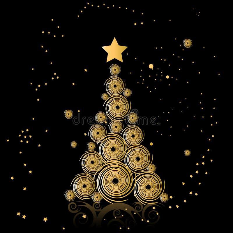 美丽的圣诞树 皇族释放例证