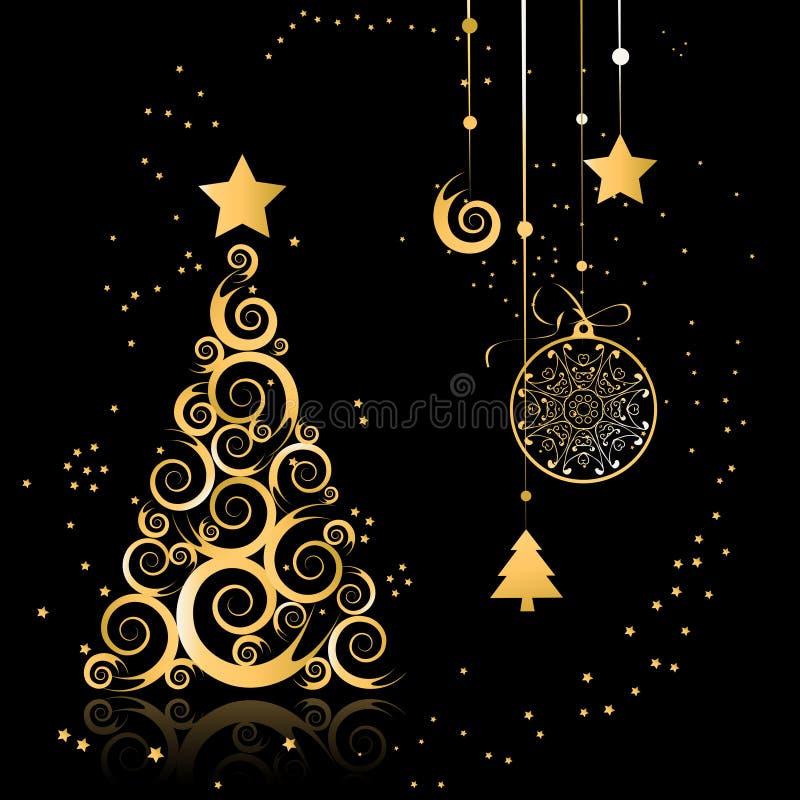 美丽的圣诞树 库存例证