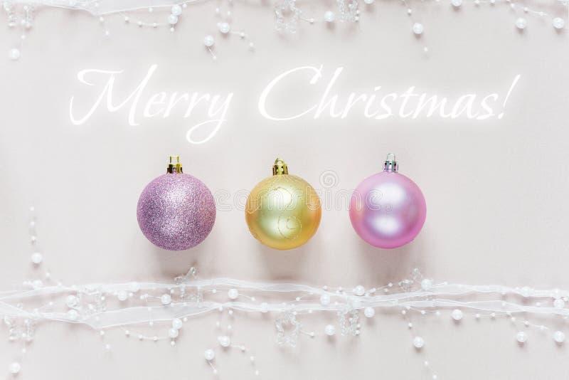 美丽的圣诞节墙纸 免版税库存图片