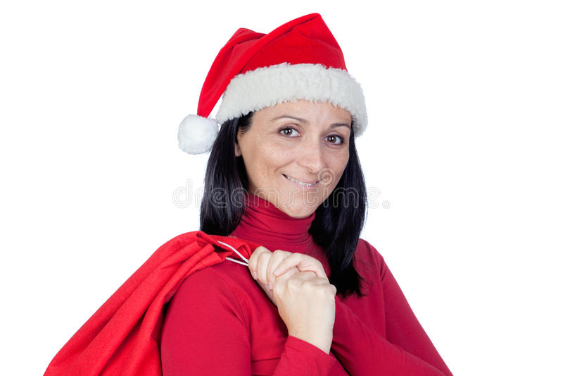 Download 美丽的圣诞节女孩大袋 库存图片. 图片 包括有 愉快, 人员, 女性, 白种人, browne, 成人, 诱饵 - 22353645