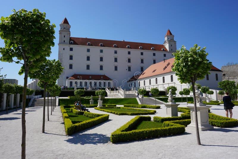 美丽的城堡在布拉索夫在斯洛伐克 免版税库存图片