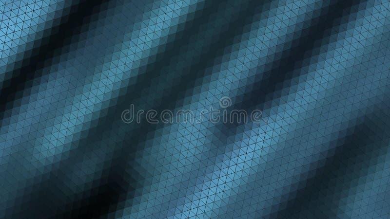 美丽的墙纸横幅与,抽象设计,几何样式,三角,影片板料,金属蓝色光亮的树荫纹理 皇族释放例证