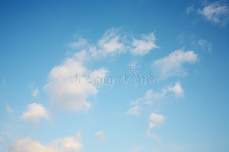 美丽的多云天空 免版税图库摄影