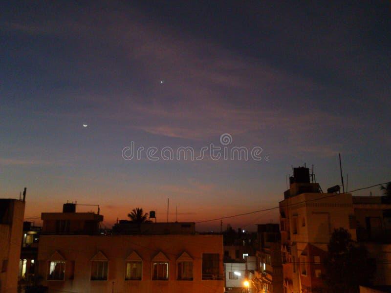美丽的夜间天空 免版税库存照片